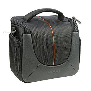 Yuma M Kameratasche schwarz/orange